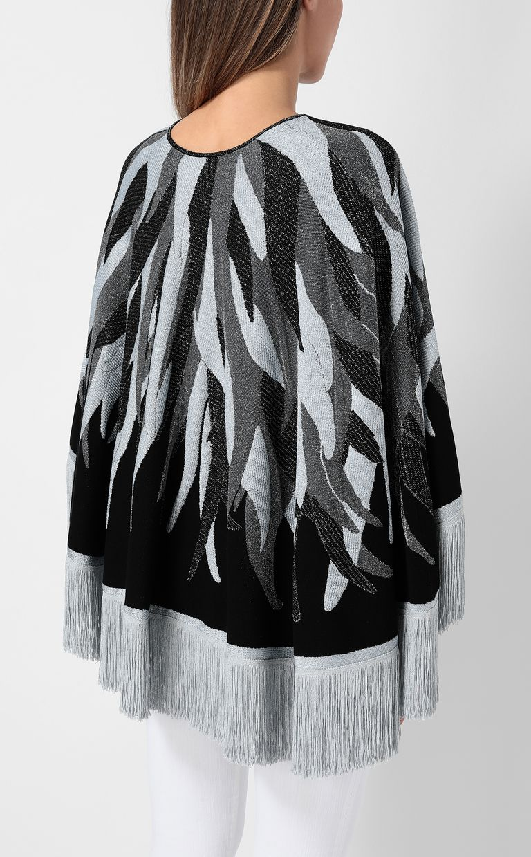 JUST CAVALLI Cape with fringed detailing Sweater Woman a