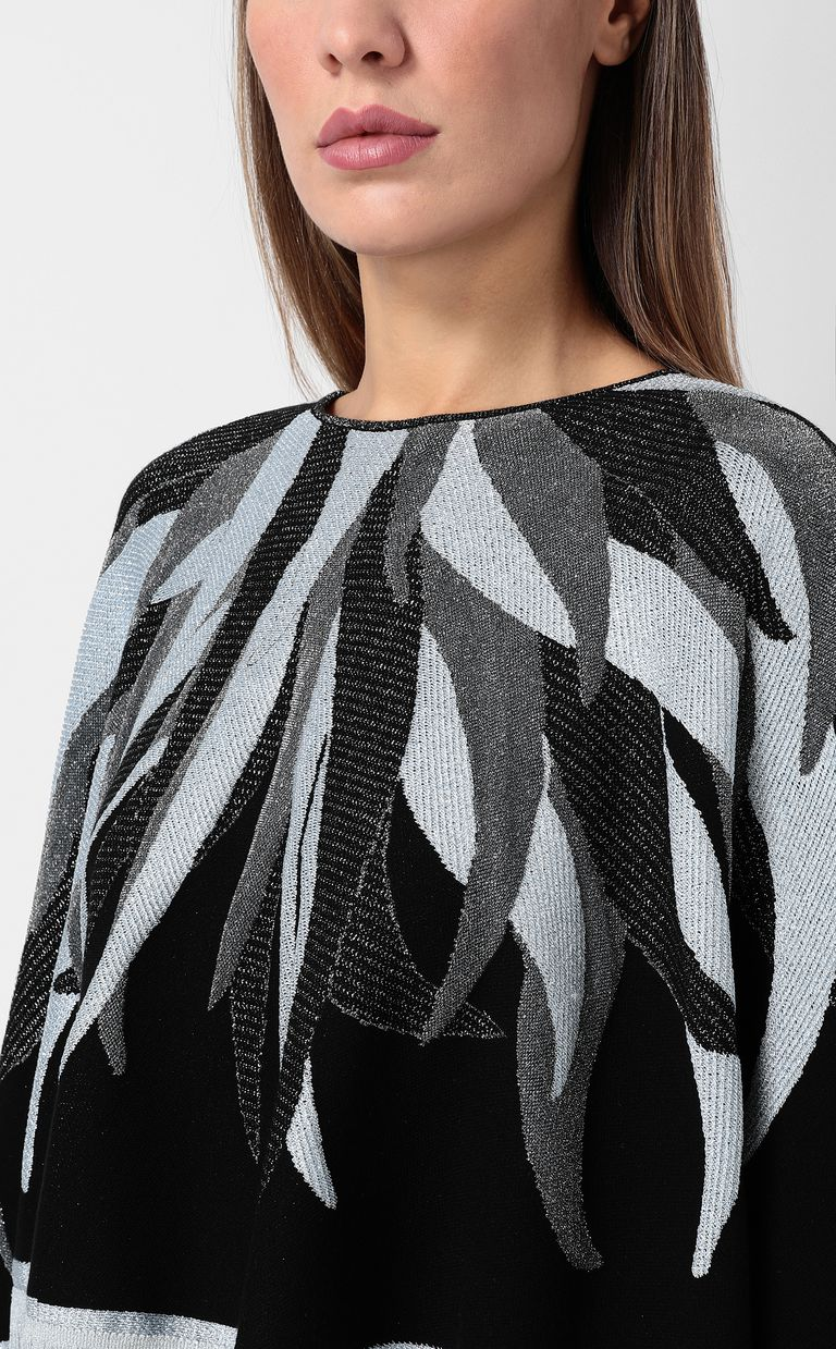 JUST CAVALLI Cape with fringed detailing Sweater Woman e