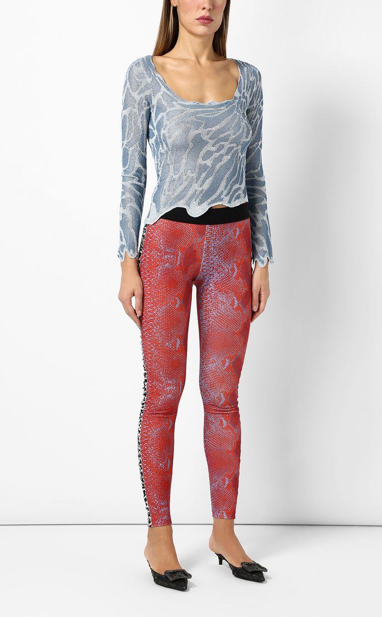 JUST CAVALLI Zebra-stripe top Long sleeve sweater Woman d