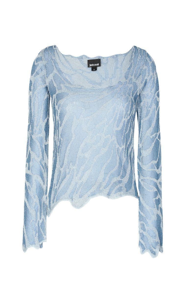 JUST CAVALLI Zebra-stripe top Long sleeve sweater Woman f