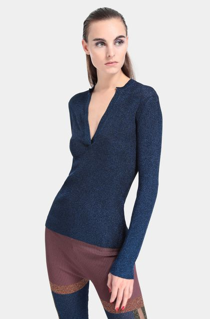 MISSONI V-Neck Blue Woman - Front