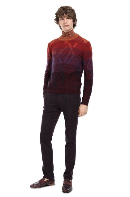 MISSONI Crew-neck Deep purple Man - Front
