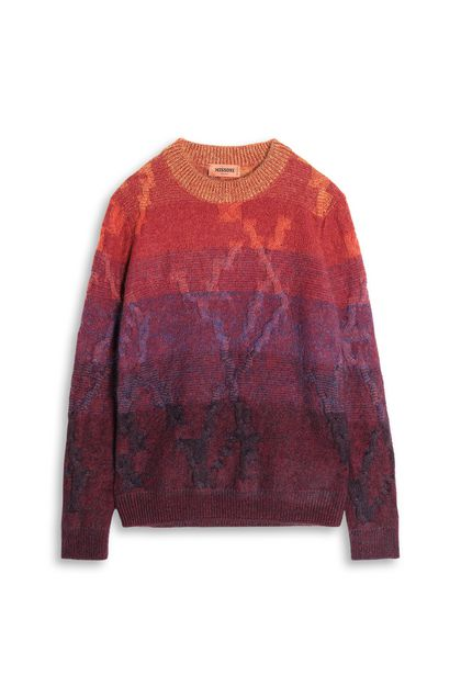 MISSONI Crew-neck Deep purple Man - Back