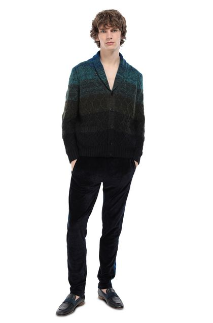 MISSONI Cardigan Dark green Man - Front