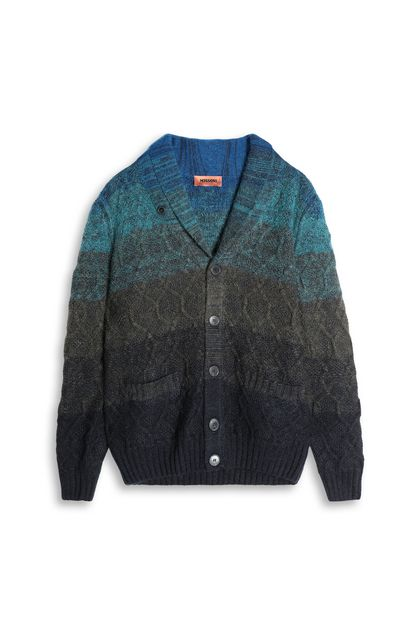 MISSONI Cardigan Dark green Man - Back