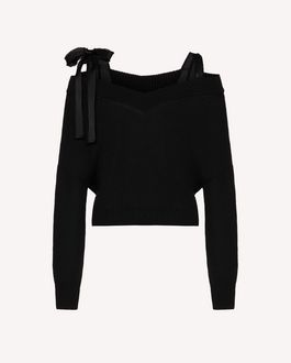 REDValentino REDballet capsule collection - Off-the-shoulder wool sweater