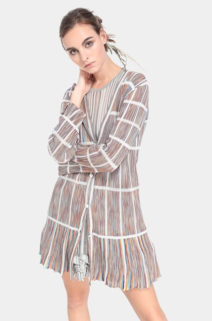 MISSONI Long cardigan White Woman - Front