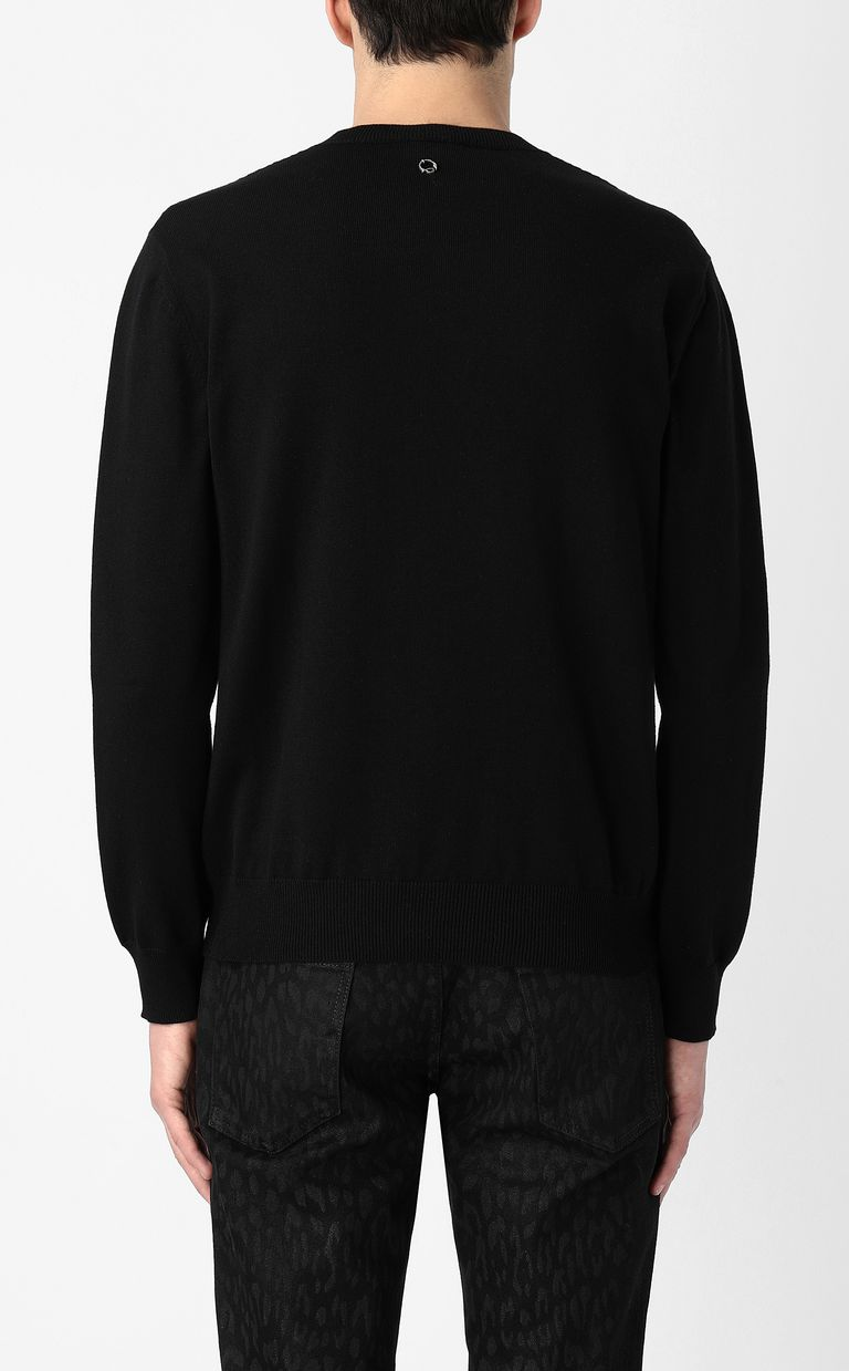 JUST CAVALLI Pullover with sequins Crewneck sweater Man a