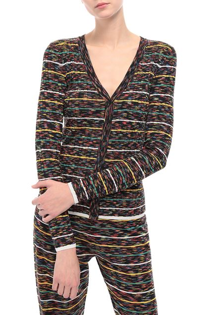 M MISSONI Long cardigan Black Woman - Front