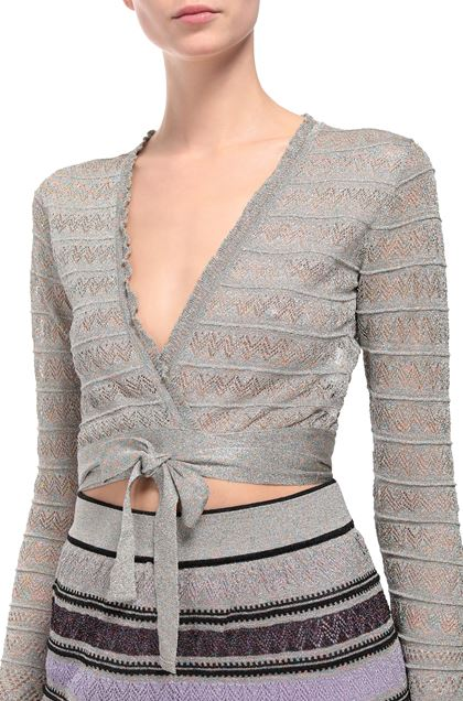 M MISSONI Cardigan Light grey Woman - Front