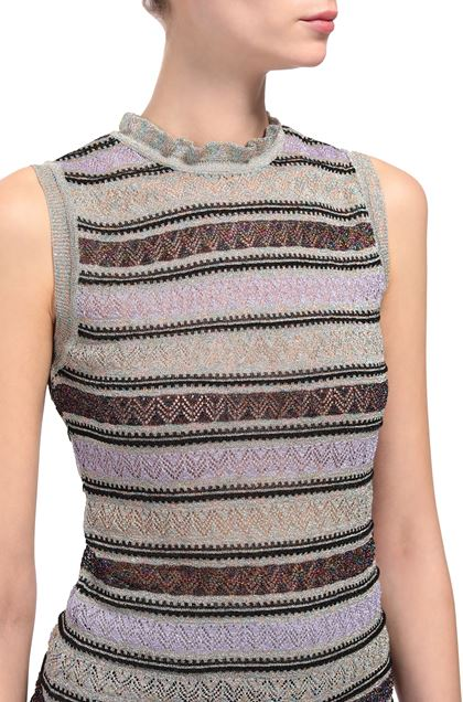 M MISSONI Crew-neck Purple Woman - Front