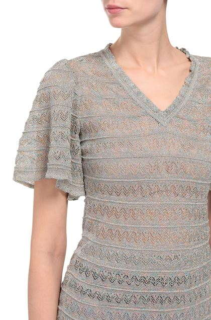 M MISSONI V-Neck Light grey Woman - Front