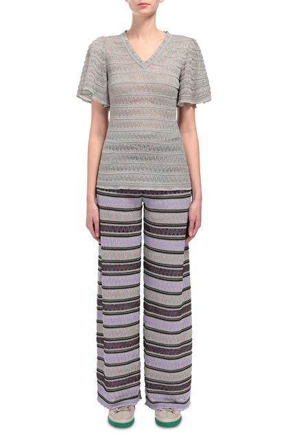 M MISSONI V-Neck Light grey Woman - Back