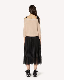 REDValentino REDballet capsule collection - Off-the-shoulder wool cardigan