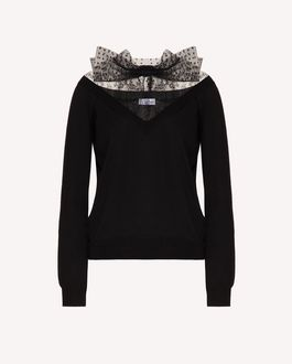 REDValentino Wool and lace sweater