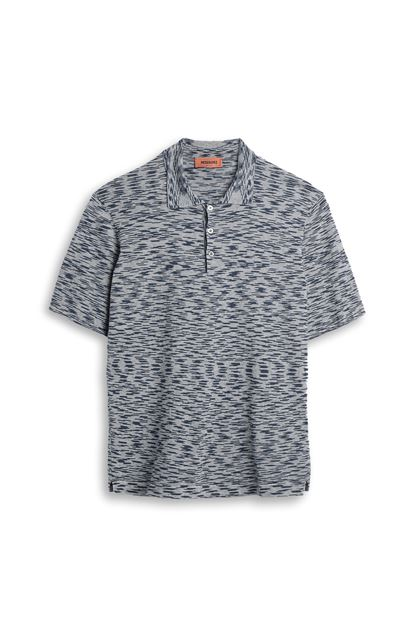MISSONI Wallace shirt Blue Man - Back