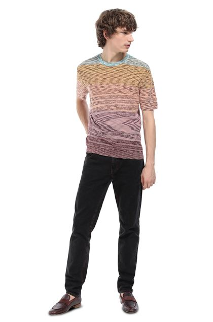 MISSONI Wallace shirt Mauve Man - Front