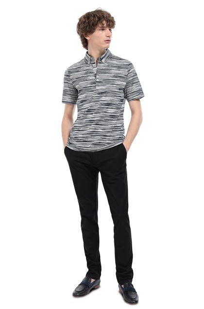 MISSONI Polo Dark blue Man - Front