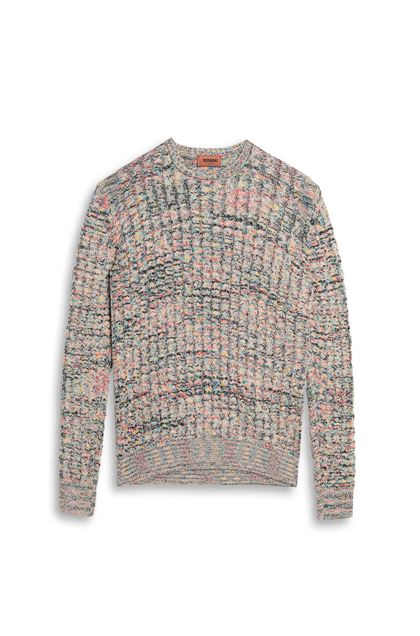 MISSONI Crew-neck Beige Man - Back