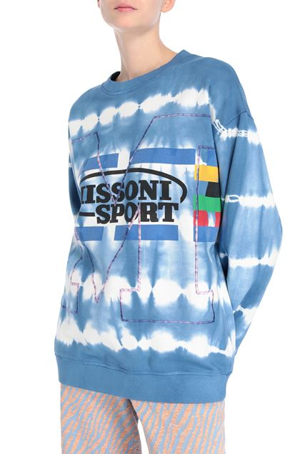 M MISSONI Sweatshirt Slate blue Woman - Front