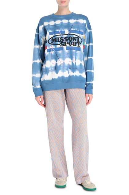 M MISSONI Sweatshirt Slate blue Woman - Back