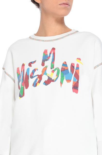 M MISSONI Sweatshirt White Woman - Front