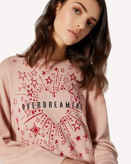 REDValentino EXCLUSIVE CAPSULE COLLECTION Wool sweater with Fireworks jacquard