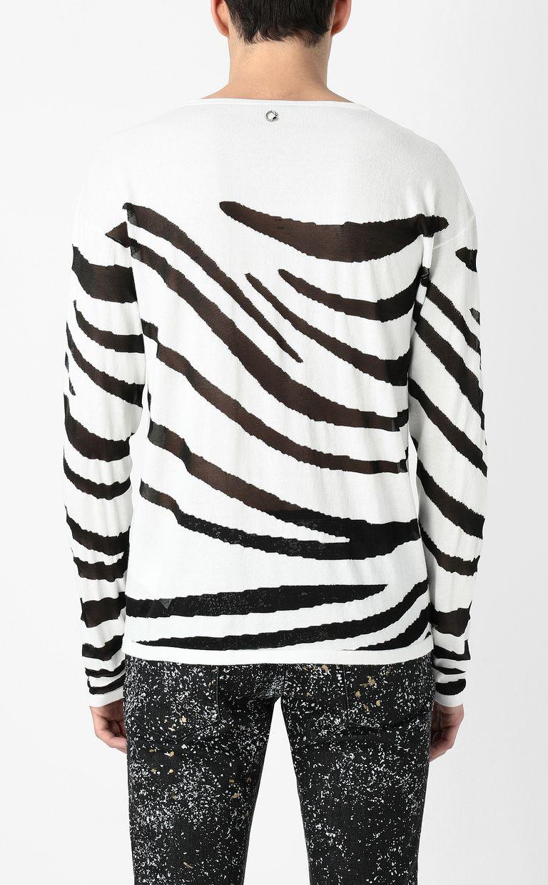 JUST CAVALLI Zebra-stripe pullover Sweater Man a