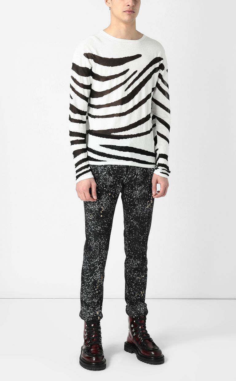 JUST CAVALLI Zebra-stripe pullover Sweater Man d