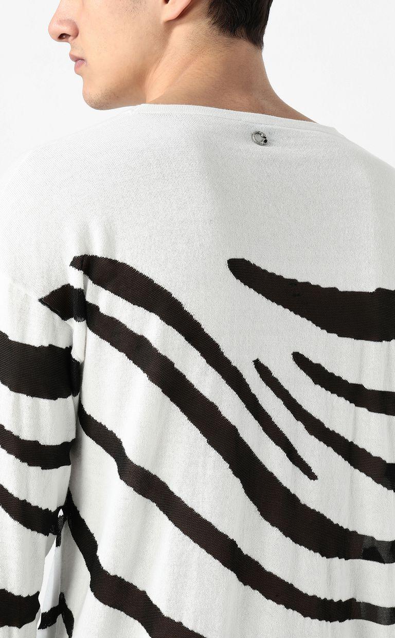 JUST CAVALLI Zebra-stripe pullover Sweater Man e