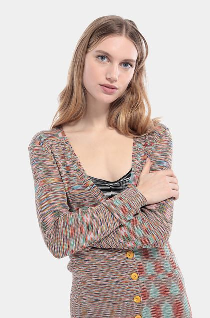 MISSONI Cardigan Orange Woman - Front