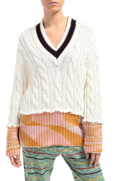 M MISSONI V-Neck White Woman - Front