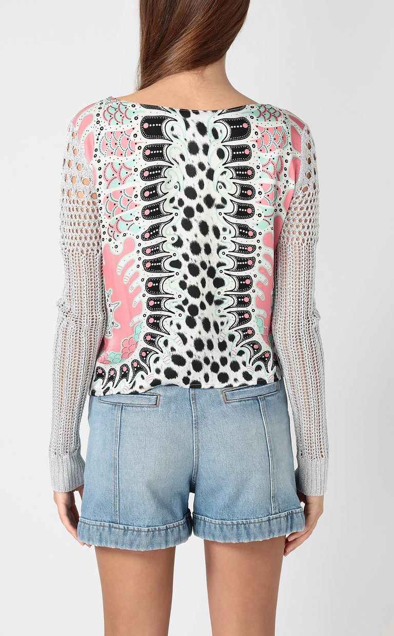 JUST CAVALLI Pullover with print design Sweater Woman a