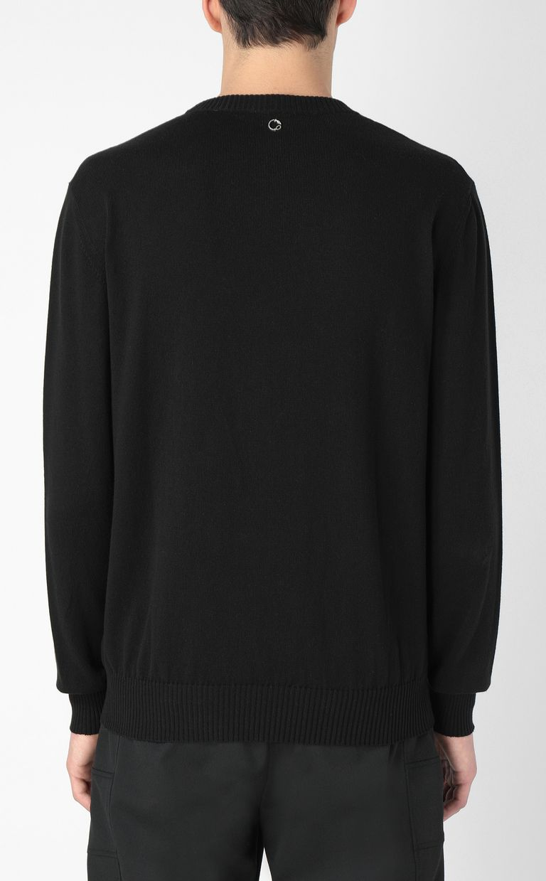 JUST CAVALLI Pullover with skull Crewneck sweater Man a