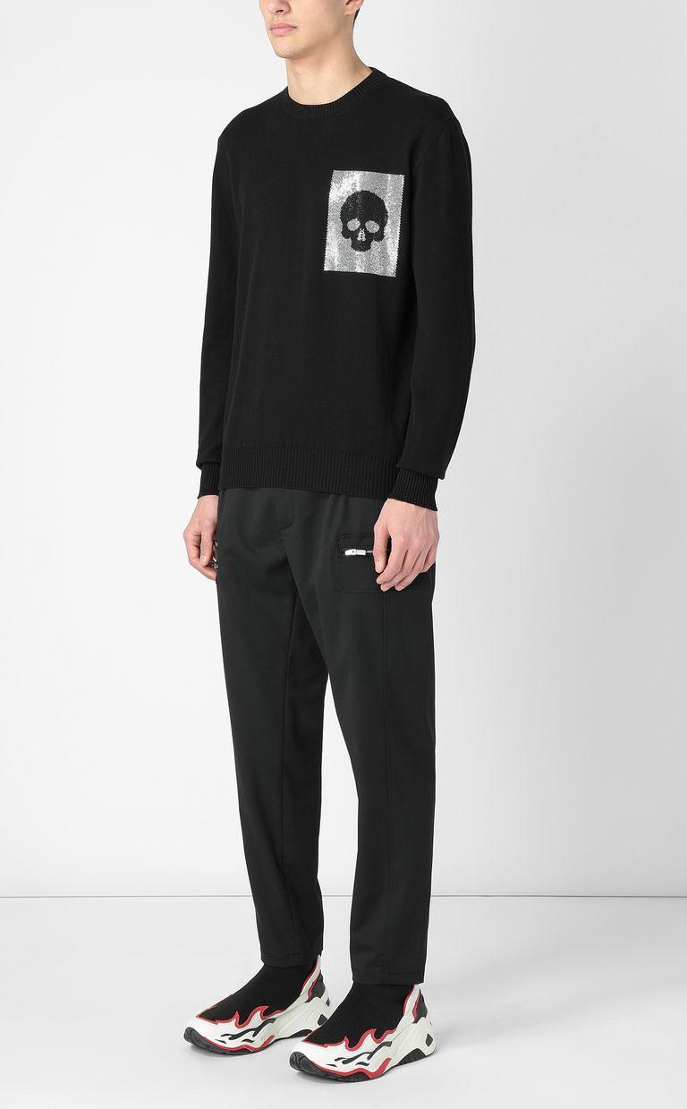 JUST CAVALLI Pullover with skull Crewneck sweater Man d