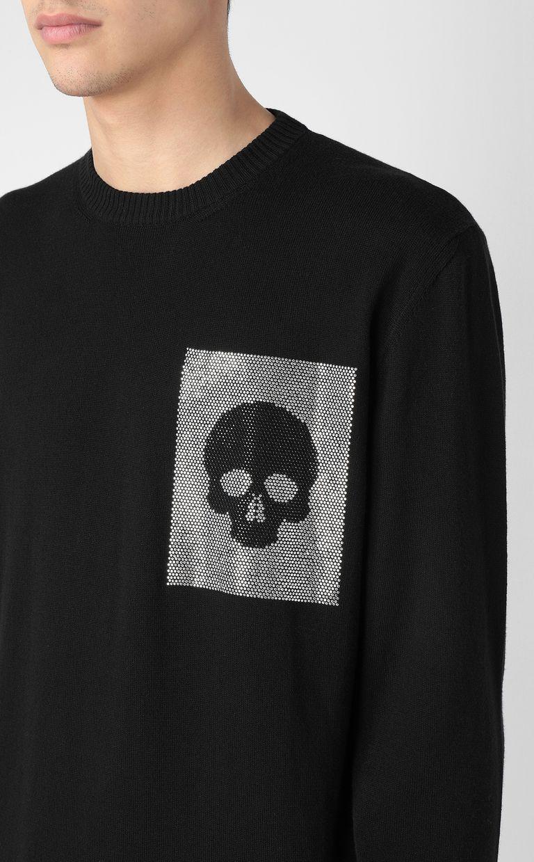 JUST CAVALLI Pullover with skull Crewneck sweater Man e