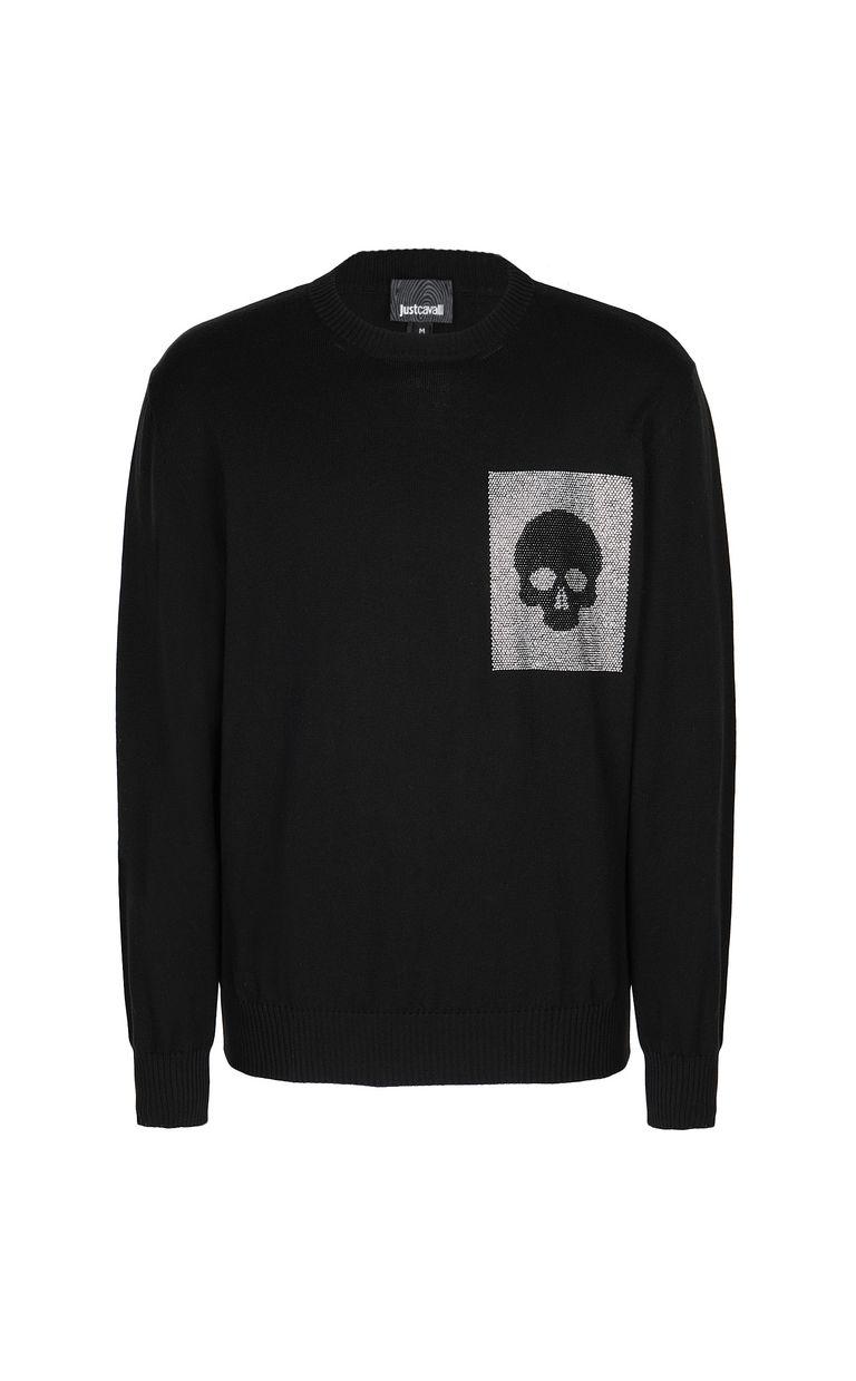 JUST CAVALLI Pullover with skull Crewneck sweater Man f