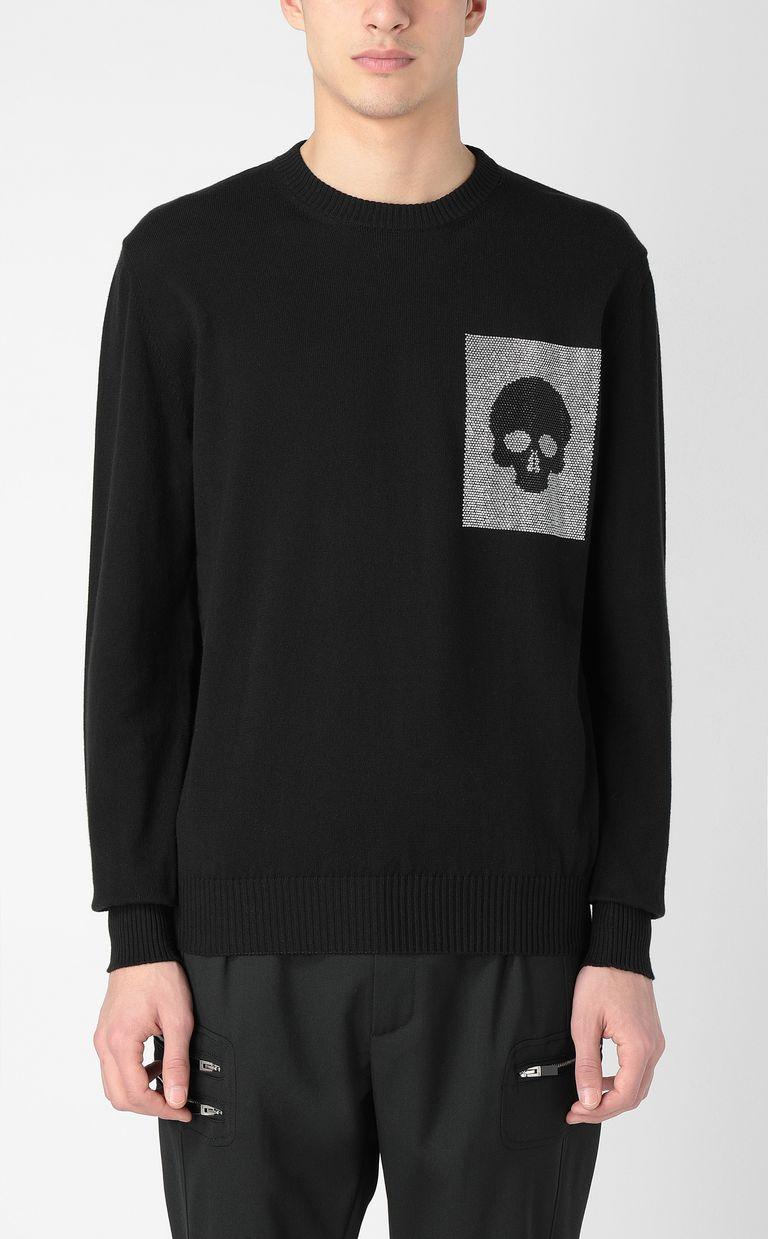 JUST CAVALLI Pullover with skull Crewneck sweater Man r