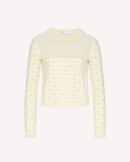 REDValentino Knit Sweater Woman TR3KCC624W6 AD6 a