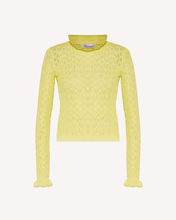 REDValentino Cableknit cotton-lurex sweater