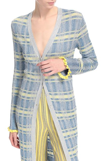 M MISSONI Long cardigan Pastel blue Woman - Front
