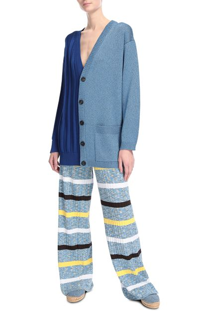 M MISSONI Cardigan Blue Woman - Back
