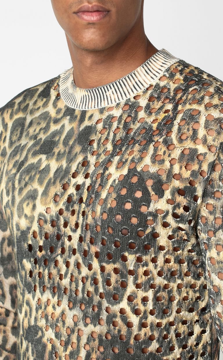 "JUST CAVALLI ""Burning Leo""-print pullover Crewneck sweater Man e"