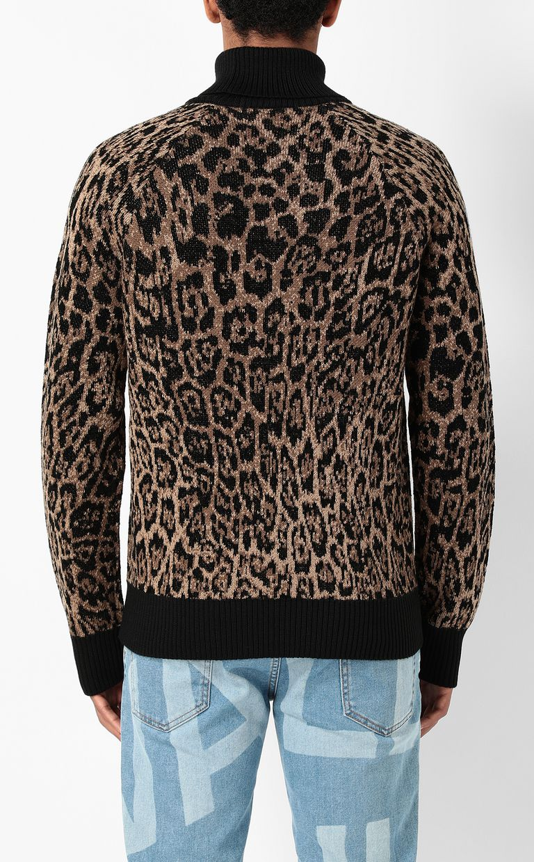 JUST CAVALLI Sweater with Dancing-Leo motif High neck sweater Man a