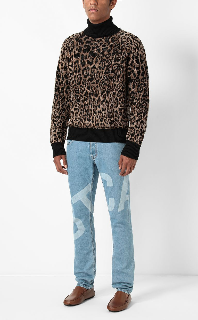 JUST CAVALLI Sweater with Dancing-Leo motif High neck sweater Man d