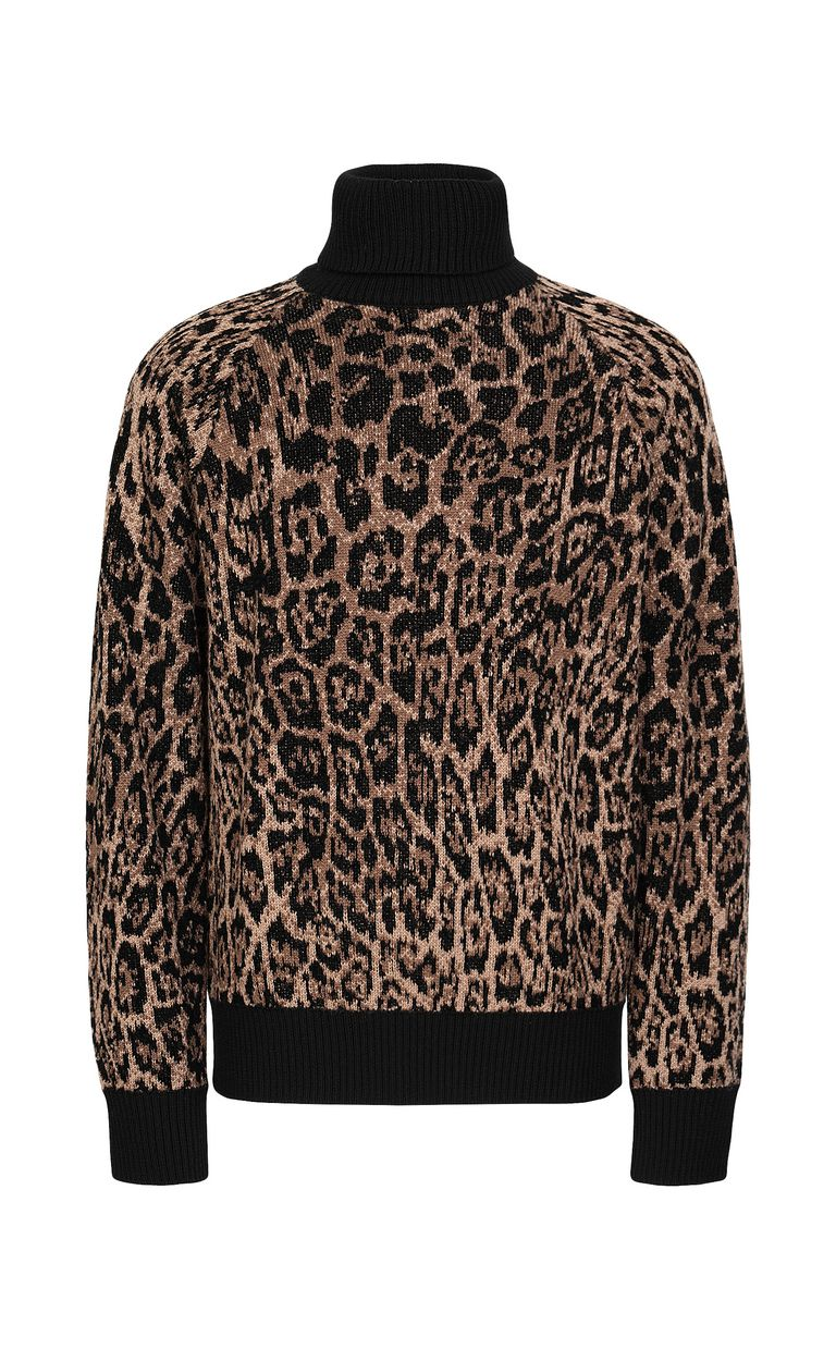 JUST CAVALLI Sweater with Dancing-Leo motif High neck sweater Man f