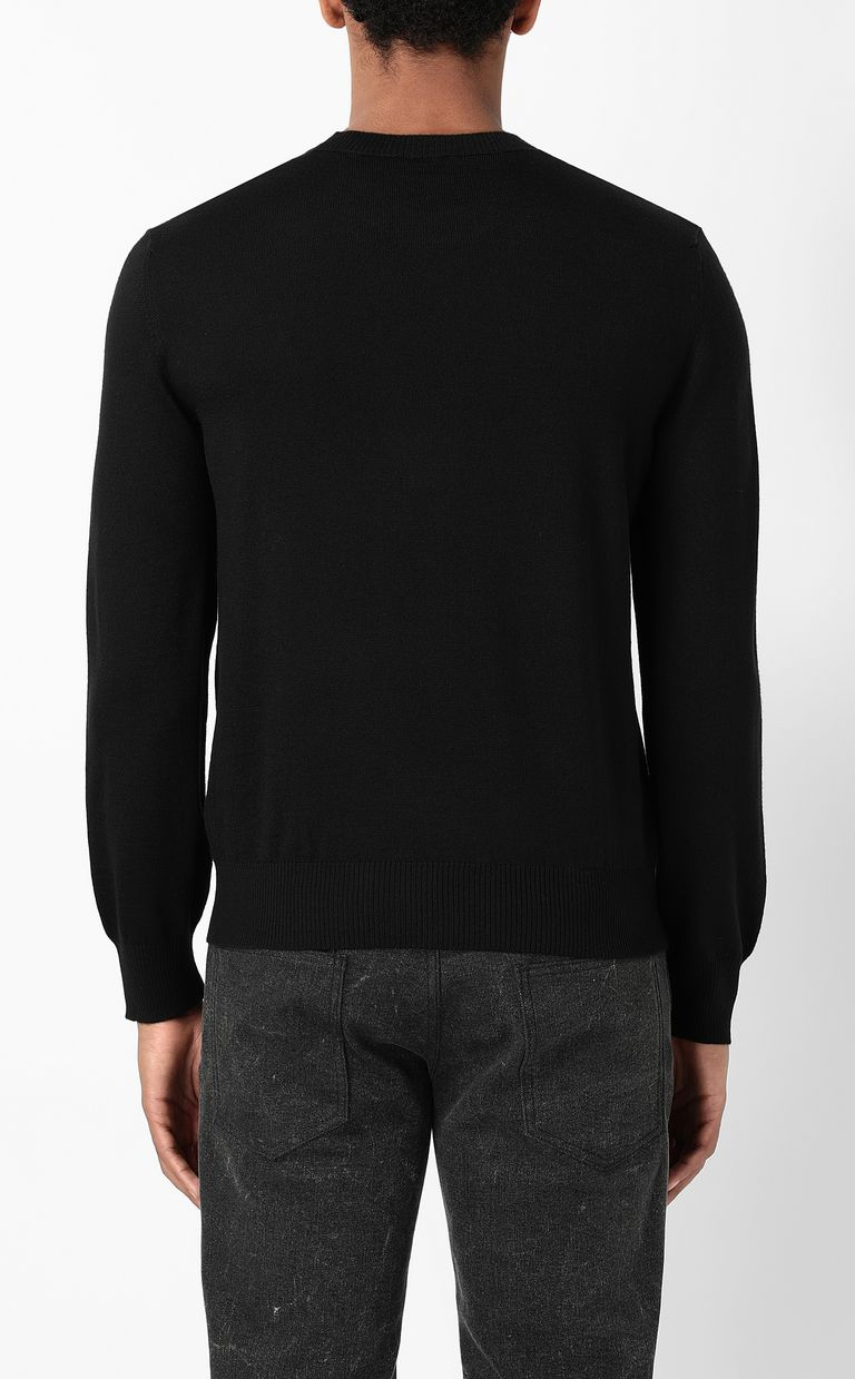 JUST CAVALLI Pullover with Tiger-Knocker detail Crewneck sweater Man a