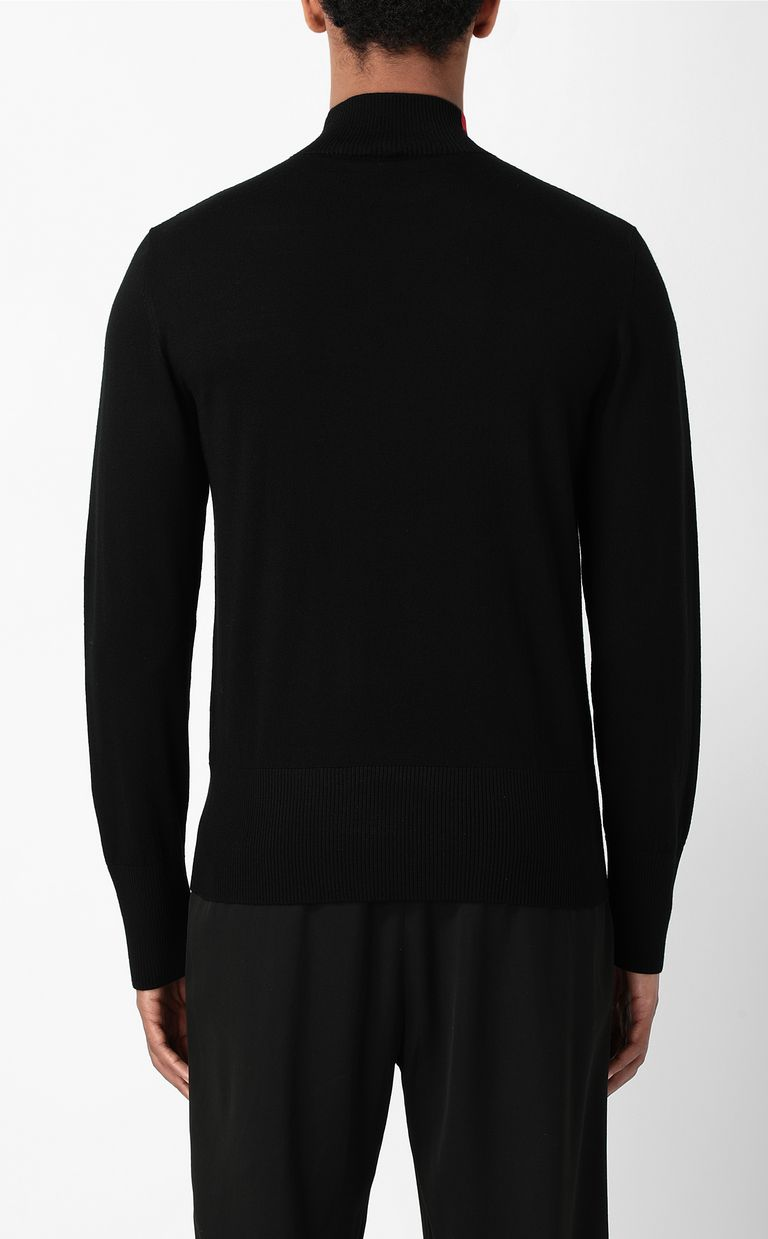 JUST CAVALLI Pullover with logo High neck sweater Man a