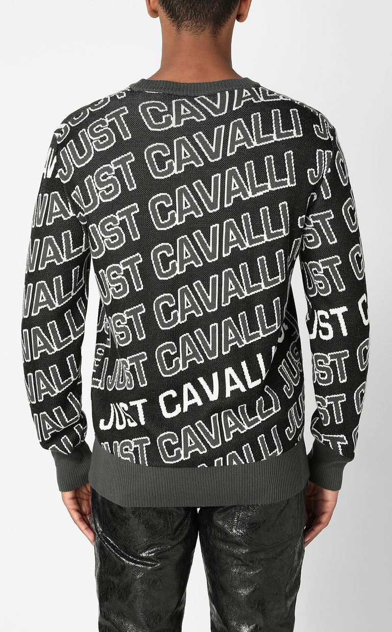 JUST CAVALLI Pullover with logo Crewneck sweater Man a