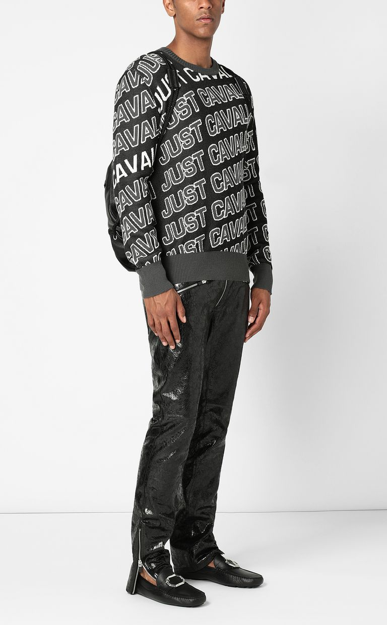 JUST CAVALLI Pullover with logo Crewneck sweater Man d